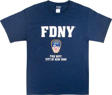 d4f817a2 T-Shirts :: Rothco Officially Licensed Navy Blue FDNY T-Shirt - 6647 ...