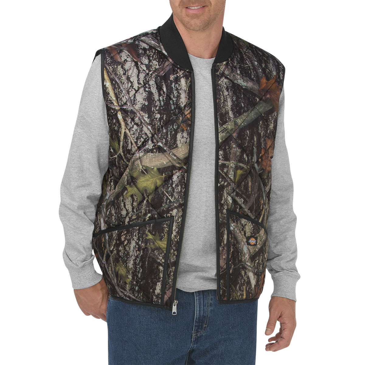 Jackets Dickies Mens Diamond Quilted Camo Vest Te243 Workinggear