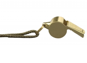 Rothco G.I.style Brass Finish Police Whistle - 10366