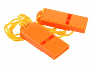 Rothco Safety Orange Flat Whistle-2Pk - 10373