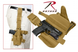 Rothco Coyote Brown Dlx Adj. Universal Drop Leg Tactical Holster - 10753
