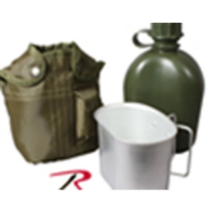 Rothco G.I. Type 1 Qt Plastic Canteen with Cover & Cup             - - 1140