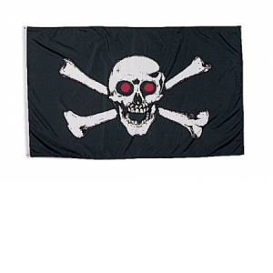 Rothco Red Skull Flag - 3 feet X 5 feet - 1488