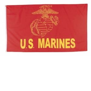 Rothco Red U.S. Marine Flag - 3 feet X 5 feet - 1496