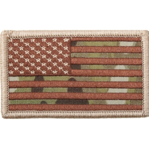 Rothco MultiCam American Flag Patch w/Hook Back - 17771