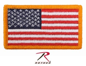Rothco American Flag Patch w/Hook Back - 17775