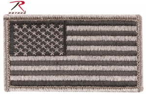 Rothco Foliage Green American Flag Patch with Hook and Loop Back - 17780