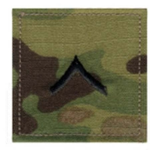 Rothco Multicam Private Embroidered Rank Insignia - 1795