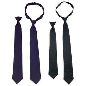 Rothco Black Police Issue Clip-On Necktie - 30082