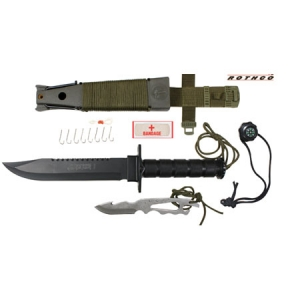 Rothco Deluxe Jungle Survival Kit Knife - 3233