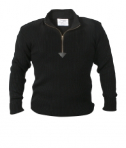 Rothco Black Quarter Zip Commando Sweater - 3390