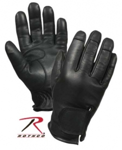 Rothco Black Deluxe Leather Spectra-Lined Police Gloves - 3434