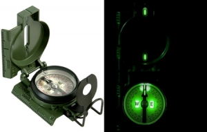 Rothco Genuine G.I. Tritium Compass with Pouch - 417