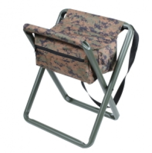 Rothco Deluxe Woodland Digital Camo Folding Stool w/Pouch - 4556