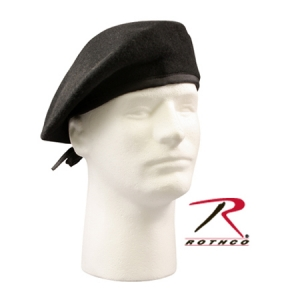 Rothco G.I. Type Black Military Beret-No Eyelets - 4718