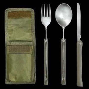 Rothco Olive Drab 3 Piece Folding Chow Kit - 487