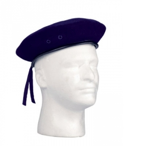 Rothco Navy Blue Wool Beret - 4916