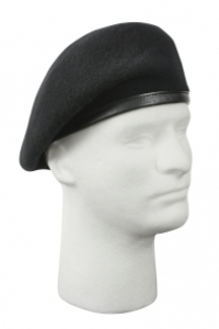 Rothco Black Inspection Ready Beret-No Flash - 4949