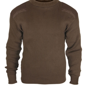 Rothco Gov feet t Type Brown Acrylic Commando Sweater - 5415