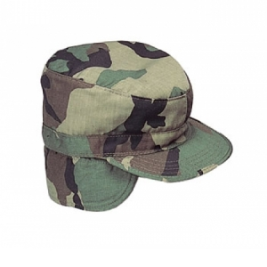 Rothco Camouflage Combat Cap  W/flaps - 5612