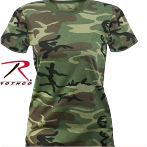 Rothco Womens Woodland Camo Long Length T-Shirt - 5678