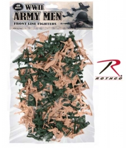 Rothco 40 Pc WWII Army Men Toy Play Set - 576
