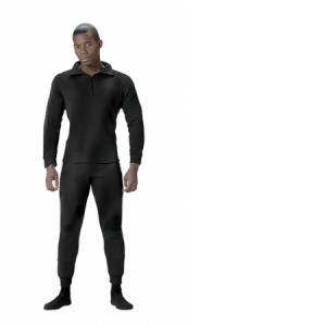 Rothco Mens Extreme Cold Weather Polypropylene Thermal Underwear Bottom - Black - 6245