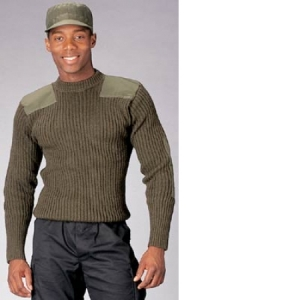 Rothco OD Wool Commando Sweater - 6348