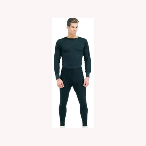 Rothco Mens Thermal Underwear Bottom - Black - 63642