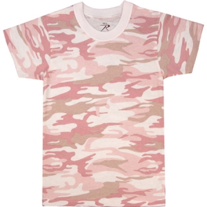 Rothco Kids Baby Pink Camouflage T-Shirt - 6397