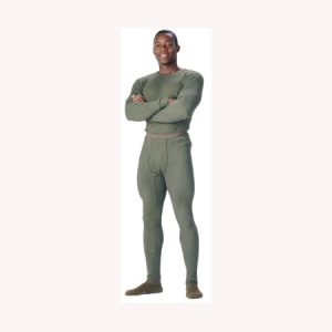 Rothco Mens Thermal Underwear Bottom - Olive Drab - 6442
