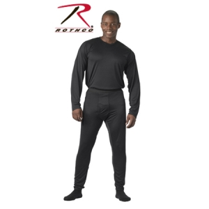 Rothco Black Military ECWCS silkweight Thermal Bottoms - 65020