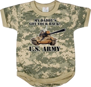 Rothco Infant Army Digital Camouflage Got Your Back One-Piece Bodysuit - 67056