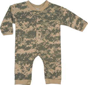 Rothco Infant Army Digital Camouflage Longsleeve and Leg One-Piece Bodysuit - 67058