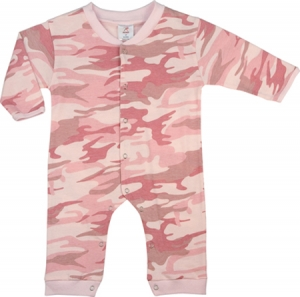 Rothco Infant Baby Pink Camouflage Longsleeve and Leg One-Piece Bodysuit - 67059