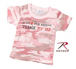 Rothco Infant Baby Pink Camo Thank My Dad Tee - 67155