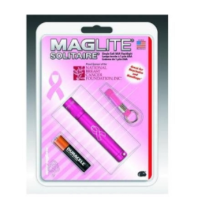 Rothco Maglite Pink Solitaire AAA Flashlight - 687