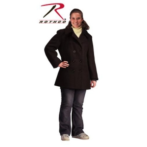 Rothco Womens Black Ultra Force U.S. Navy Type Peacoat - 7038