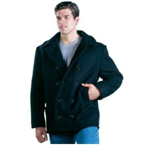 Rothco US Navy Type Peacoat (USA Made) - Black - 7064