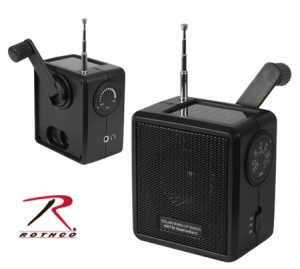 Rothco Solar/Wind Up Radio - 80004