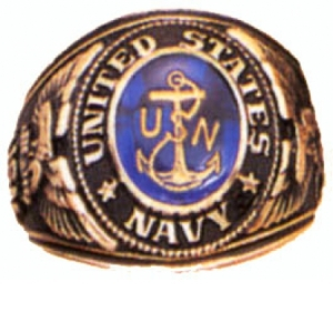 Rothco Navy Deluxe Engraved Ring - 823-R