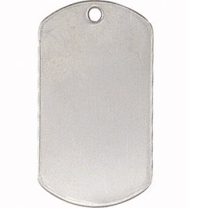 Rothco Shiny Stainless Military Dog Tags - 8381