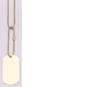 Rothco G.I. Type Gold Dog Tag - 8386