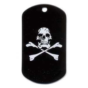 Rothco Skull and Crossbonesscreen Printed Dog Tags - 8594
