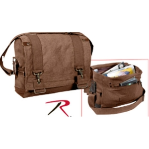 Rothco Brown Vintage B-15 Pilot Messenger Bag - 9134