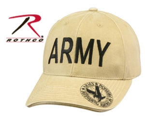 Rothco Vintage Khaki Army Deluxe Low Profile Insignia Cap - 9788