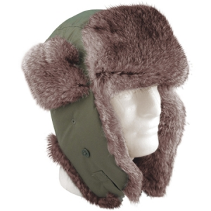 Rothco O.D. Fur Flyers Hat - 9860