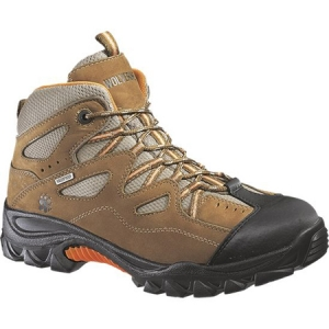 Wolverine Durant Waterproof SteelToe EH Slip Resistant Hiker - Brown/Orange - W02625