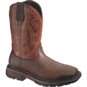 Wolverine Javelina Western Wellington Boot - Dark Brown/Red - W02784