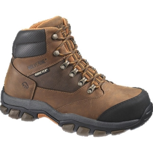 Wolverine Harden- Gore-Tex Waterproof Steel Toe Hiker - Brown/Orange - W04978